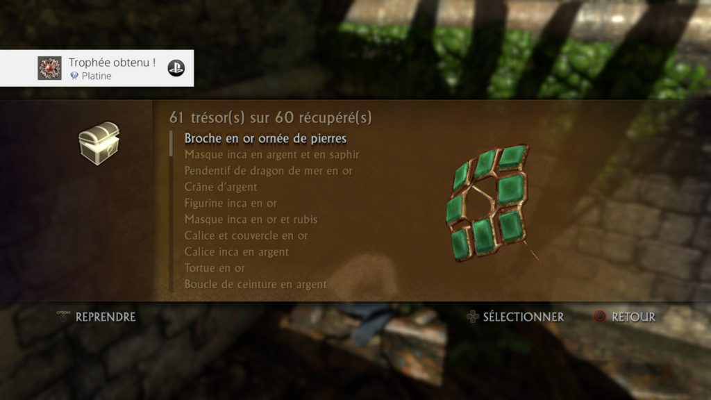 Platine Uncharted Drake's Fortune